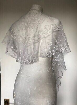 Antique Handmade Lace Collar Vintage Dress Wedding Victorian