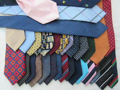 WHOLESALE JOB LOT BULK 10kg MIXED SOILED SPOILT  NECK TIE PATCH WORK WEAVE