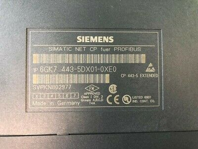 Siemens 6GK7443-5DX01-0XE0 SIMATIC NET,CP443-5 EXTENDED COMMUNICATIONS PROCESSOR