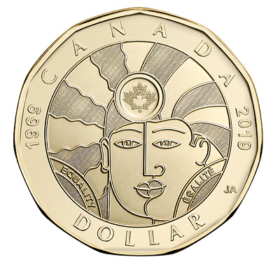 NEW! 2019 $1 Dollar EQUALITY coin Canada Loonie By artist Joe Average