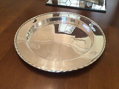Lovely Antique Martin Hall And Co Silver Plated Drinks Tray