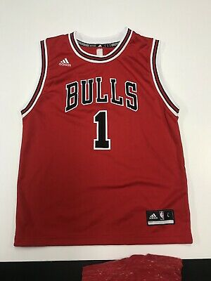 cheap for discount c63d1 5a5d2 CHICAGO BULLS YOUTH #1 Derrick Rose Red Jersey by Adidas 50 ...