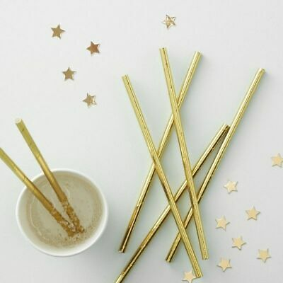 25 STRAWS I Do Crew Hen Party Fun Gold Foiled Luxury Engagement Bride to Be