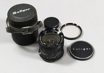 AF Confirm Canon EOS EF Mount Soligor Wide-Auto 28mm f/2.8 Lens w/Case, Filter