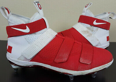 50628e937 Nike Lebron Soldier 11 Football Cleats Ohio State Buckeyes Promo Sample   Size 13