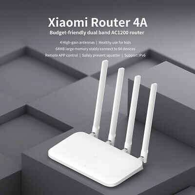 Xiaomi Router 4A Wireless WiFi 2.4GHz 5GHz Dual Band 1167Mbps WiFi Repeater S6X6