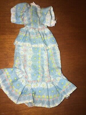 Vintage Hasbro Beautiful Bonnie Breck Doll Blue Floral Granny Dress Only