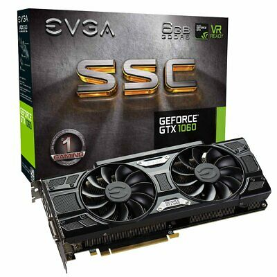 EVGA GeForce GTX 1060 6GB SSC GAMING ACX 3.0, 6GB GDDR5, LED, DX12 OSD Support