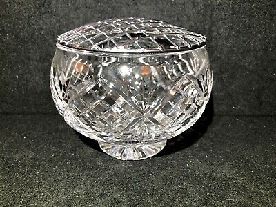 "CRYSTAL CUT ROSE BOWL- DIAMETER 5"" - Not Signed"