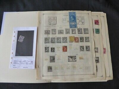 Canada 1869-1938 Stamp Collection on Album Pages