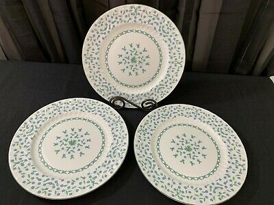 "Aynsley ""FORGET ME NOT"" England ~ Set of 3 ~ Dinner Plates ~ 10 3/8"""