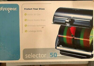 DiscGear Selector 50 Holds Stores Organizes Software DVDs Games CDs Blu-Rays NIB