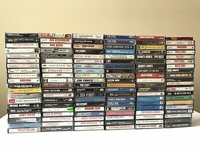 Huge Lot Premium Artists Cassette Tapes ROCK Also SOUL JAZZ  POP 70s - 90s