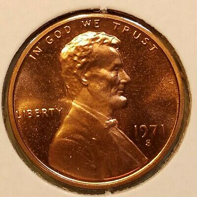 1971-S $.01 Proof Lincoln Memorial Cent