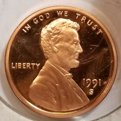 1991-S $.01 Proof Lincoln Memorial Cent