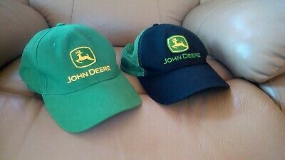 John Deere Cap Hats (Two) Brand New Without Tags~Garage Sale Bulk Lot