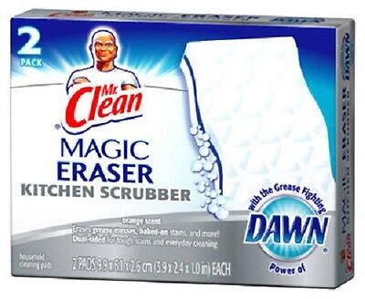 Mr. Clean 12 Pack, Magic Eraser Kitchen Scrubber w Dawn