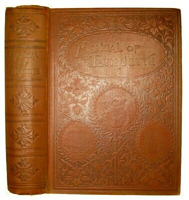 ETIQUETTE ELEGANCE Victorian Antique 1896 MANNERS SOCIETY LADY DEBUTANTE WEDDING