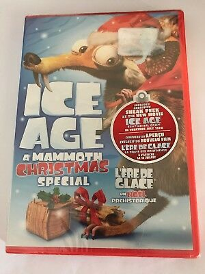 ICE AGE A MAMMOTH CHRISTMAS SPECIAL. Dvd 2011 Canadian Widescreen BRAND NEW