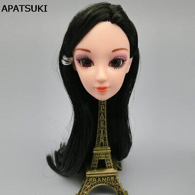 DIY Kids Toy Gift Doll Head 3D Real Eye Chinese Doll Heads For 1/6 BJD Dollhouse