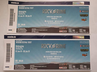 2x Rock Am Ring 2019 - Weekend Festival Tickets + 1x General Camping & Parking