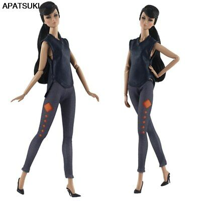 1set Fashion Vest & Trousers Pants For 11.5in Doll Clothes Outfits For 1/6 Doll