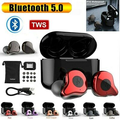 TWS True Wireless Bluetooth5.0 Headset Sabbat E12 Twins Stereo Earbuds MIC V6T7