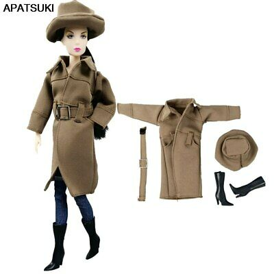 1set Fashion Coat & Top & Handbag & Skirt For 1/6 Doll Clothes For 11.5in  Doll