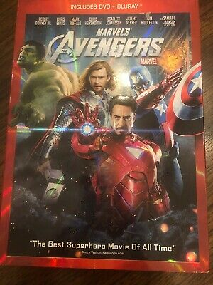 The Avengers (Blu-ray/DVD, 2012) With Sleeve Cover