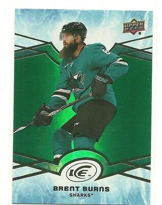 18/19 Upper Deck Ice Brett Burns San Jose Sharks Green Parallel