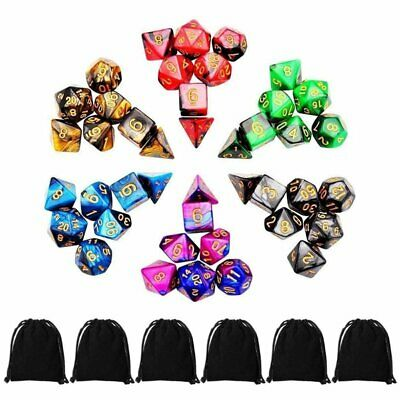 42Pcs Polyhedral Dice For Dungeons Dragons DND RPG D20 D12 D10 D8 D6 D4 Game KU