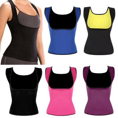 2pcs/set Women Slimming Vest Body Shaping Sweat Absorption Tops Sports Shapewear