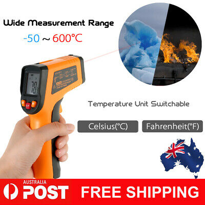 Meterk -50~600°C 12:1 Portable LCD Non-contact IR Infrared Thermometer AU I5T7