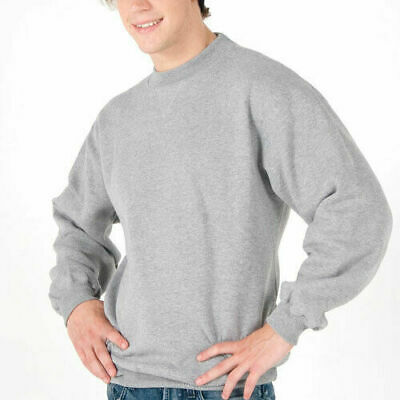 Adults Plain Fleece Sloppy Joes | Mens Unisex Poly Cotton Jumper | Size XS-3XL