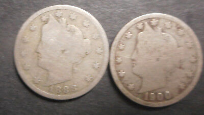 United States US 1897 1898 Liberty Nickel  Coin