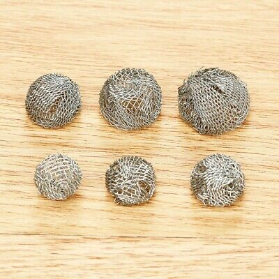 10Pcs Tobacco Pipe Metal Screen Smoking Ball Filter Promote Combustion UK Stock