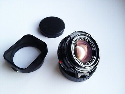 """Leica Summicron-M 35mm f/2 Lens - V4 """"KING OF BOKEH"""", made in Canada, with Box"""