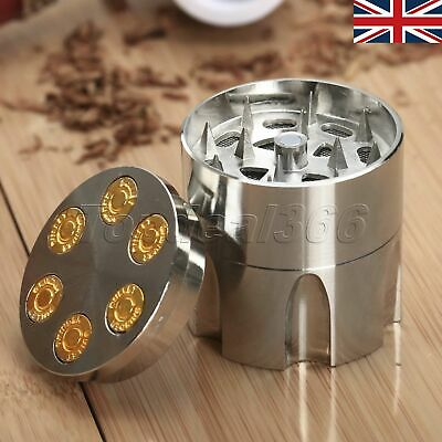 Zinc Alloy 3 Layers Tobacco Crusher Hand Muller Herb Spice Grinder UK Stock