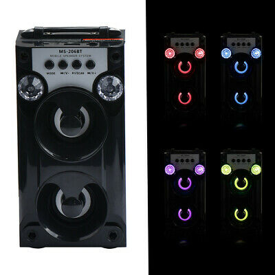 Outdoor Bluetooth Wireless Portable Speaker Stereo Bass with USB/TF/AUX/FM Radio