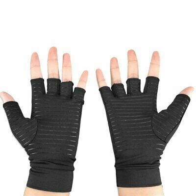 Hands Copper fabric Gloves Therapeutic Unisex Circulation Arthritis Gloves bn