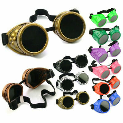 Retro Unisex Welding Party Cyber Steampunk Goggles Punk Gothic Glasses NEW 2019