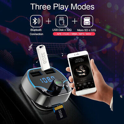 Bluetooth Car Dual USB Charger FM Transmitter Wireless Radio Adapter MP3 Player