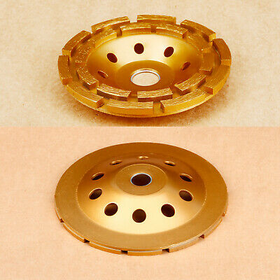 """7"""" 180mm Golden Diamond Grinding Cup Wheel Disc Grinder Concrete High Quality"""