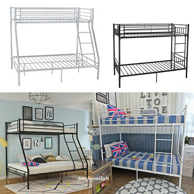 3FT Single 4FT6 Double Metal Bunk Bed Frame Triple Sleeper for Adult Kid Home UK