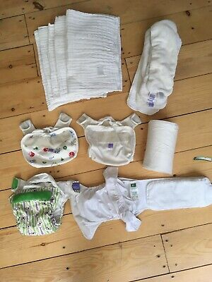Washable Re-usable Nappies -Bambino Mio,Totsbots,Little Bloom, Nappies Used
