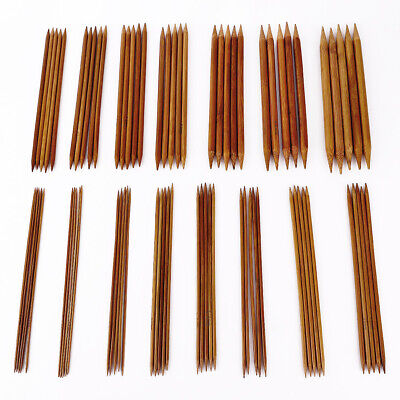Carbonized Bamboo Set 75pcs Double Pointed Knitting Needles Crochet 2mm -10mm
