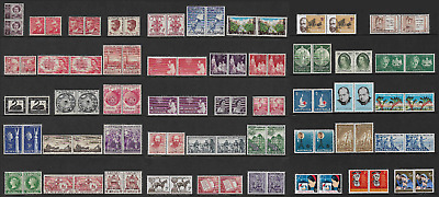 AUSTRALIA mixed collection, joined Pairs, mint pre-decimal, MNG