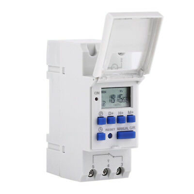 24/12/110V Digital LCD Programmable Time Switch  Time Control Relay Rail Timer