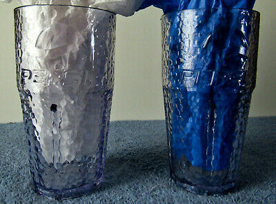 Set of 2 Pizza Hut Pepsi  24oz Plastic Glasses Never used No Scratches or Cracks