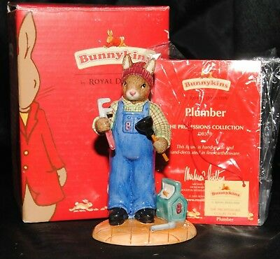 Bunnykins By Royal Doulton Plumber Figurine DB378 Boxed